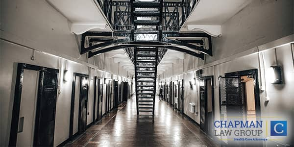 Image of a stairwell in a prison