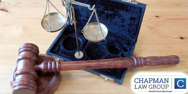 Image of a gavel and a scale.
