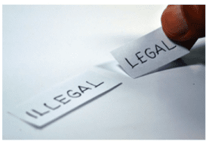"Image showing some label something either ""legal"" or ""illegal""."