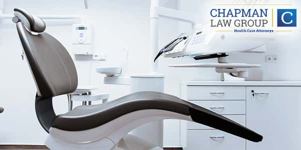 """Image of a dentists chair to represent our specific """"providers"""" area for dentists and dental hygeinists."""