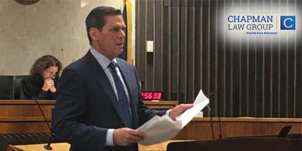 Image of Ronald W. Chapman Sr. defending his client in court.