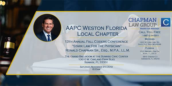 Image of an ad for the 2019 AAPC Weston Florida Fall Medical Coders Conference.