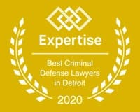 A badge naming Chapman Law Group for being one of the best criminal defense lawyers in 2020