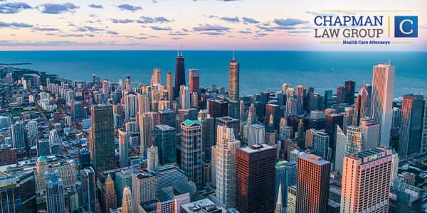 Image of downtown Chicago where Chapman Law Group practices health care fraud defense.