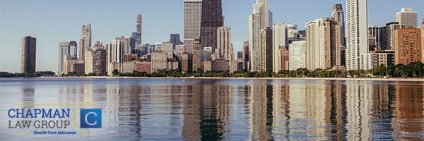 Image of the Chicago skyline where Chapman Law Group defends physicians against health care fraud claims.
