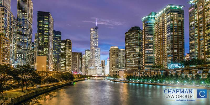 An image of the city of Chicago where Chapman Law Group practices health care compliance law.