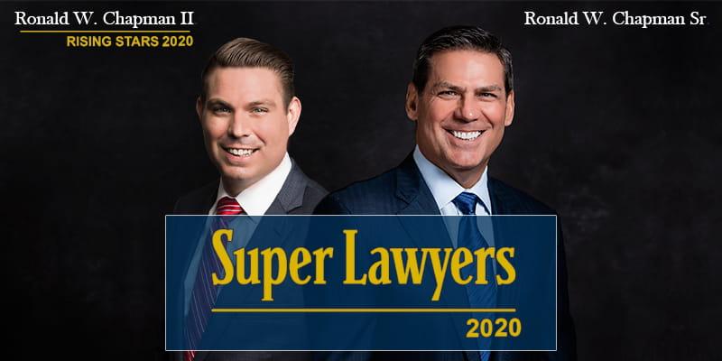Image showing Ronald W. Chapman Sr. and Ronald W. Chapman II as 2020 Super Lawyers.