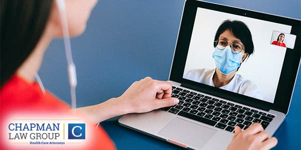 Doctor and Patient Using Telehealth